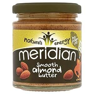 Meridian Burro Di Mandorle Liscio 100% 170g Noci (Confezione da 2)
