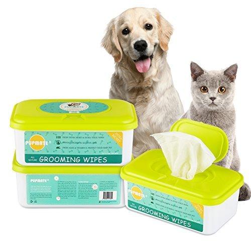 PUPMATE Pañitos Perros y Gatos, pañitos Extra húmedos y Gruesos para Limpiar...