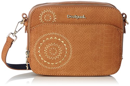 Desigual Bols_jasper Agora, 6091, U, femme, Marron (Leather Brown), 7.5x15x19.5 cm (b x h t)