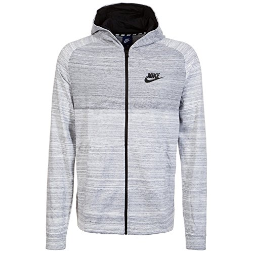 Nike Advance 15 Full Zip Hoody (white/black, M) (Hoodie 15)
