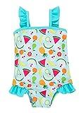 Attraco Baby Schwimmanzug Mädchen Einteiler Baby Badeanzug Türkis Badebekleidung Baby Früchte 3-6 Monate