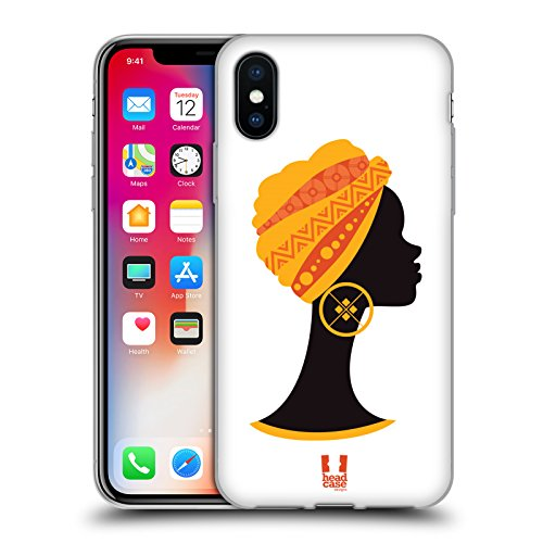 Head Case Designs Bavardage Motifs Africains- Serie 1 Étui Coque en Gel molle pour Apple iPhone 6 Plus / 6s Plus Buste De Profil