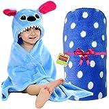 Brandonn Newborn Combo Of Two Hooded And Spread Sheet Blanket- Blueanimal /Royaldott