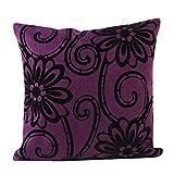 kolylong Blumen Oberfläche Zuhause Sofa Bett Dekorativ Kissenbezug Flachs Kopfkissenbezug (45cm *45cm) (B)