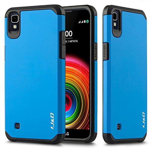 LG X Power Funda, J&D [Armadura Delgada] [Doble Capa] [Protección Pesada] Híbrida Resistente Funda Protectora y Robusta para LG X Power - Azul
