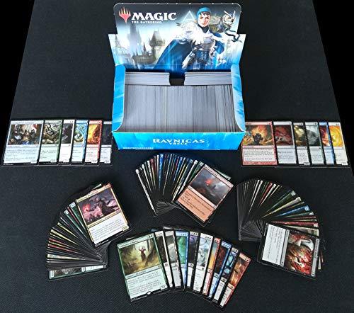 Magic The Gathering 800 MTG Karten SPARSET (10 Rare + 100 Uncommon) Kartenpack - Sammlung + GRATIS 10 Arkero-G White Card Dividers