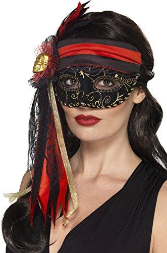(Smiffys Damen Piraten Augenmaske, One Size, Schwarz, 44953)