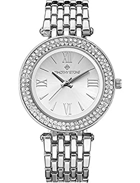 Timothy Stone Damen-Armbanduhr AMBER CERAMIC Analog Quarz edelstahl-armband Farbe Silber damenuhr Entwurf