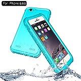NewTsie iPhone 6 / iPhone 6s Wasserdicht Stoßfest Hülle, IP68 Zertifiziert Schutzhülle Staubdicht mit Eingebautem Displayschutzfolie für Apple iPhone 6/6s 4.7 inch (P-Blau)