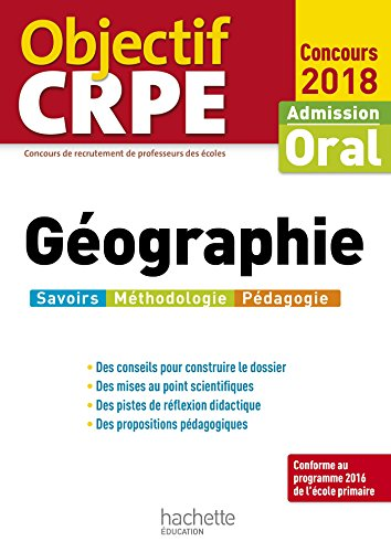 Objectif Crpe Gographie 2018