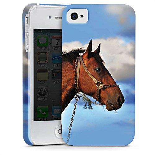 Apple iPhone X Silikon Hülle Case Schutzhülle Pferd Hengst Stute Premium Case glänzend