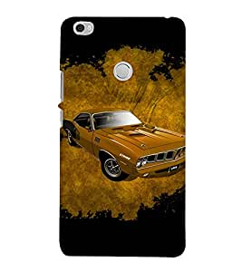 PrintVisa Animated Long Car 3D Hard Polycarbonate Designer Back Case Cover for Xiaomi Mi Max
