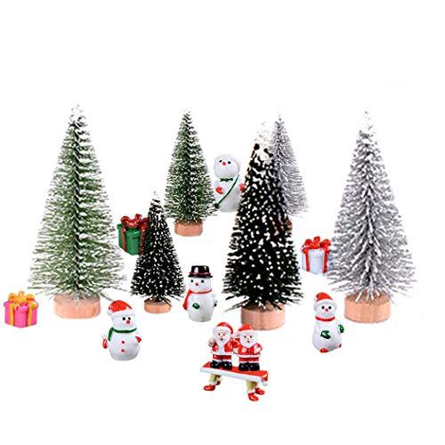 16pcs christmas miniature ornament decorative assorted cute fairy garden decor happy christmas