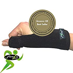 Thumb Support (SINGLE) Metal Spica Splint NON-SWEAT by 4Dflexisport the ultimate in hypoallergenic non-rash comfort. Reversible left or right one-easy-size fit. UNISEX.