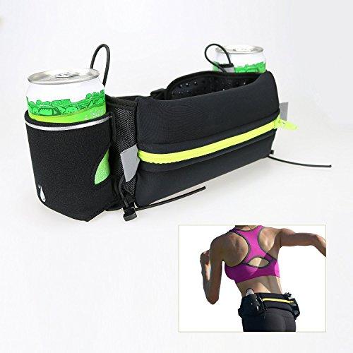 VIKINS Cinturón de hidratación para running–con 2Bolsillo pa