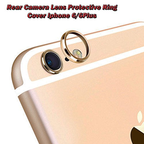 Rear Camera Guard Circle Metal Lens Protective Case Cover Ring Bumper for Mobile iphone 6 6s plus lens Protector Ring (Golden)  available at amazon for Rs.109