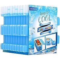 OICEPACK paquete de hielo para nevera (juego de 10) paquete de hielo para lonchera de hielo, bolsa de almuerzo, bolsa de hielo, delgada, reutilizable, paquetes de hielo de larga duración