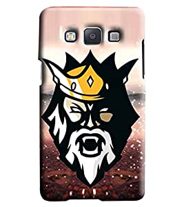 Blue Throat Man Face With Crown Printed Designer Back Cover/Case For Samsung Galaxy A7