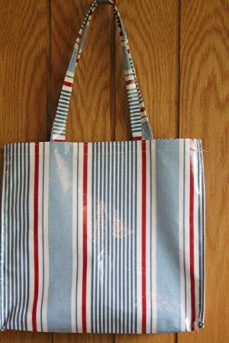 Strisce blu e rosso, in borsa per la spesa