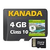 ?KANADA GPS Karte 4GB microSD für Garmin Navi, PC und MAC ? ORIGINAL von STILTEC © -