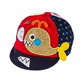 Wicemoon Niños Niñas Sombrero de Pescado de Dibujos Animados Lindo Sombrero de Sol Gorra de Béisbol(Rojo)
