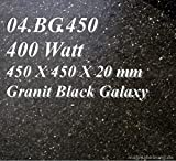 Magma jesro 400 Watt (Black Galaxy GRANIT) 470 x 400 x 20, produttore di riscaldamento a infrarossi in pietra naturale da più di 20 anni
