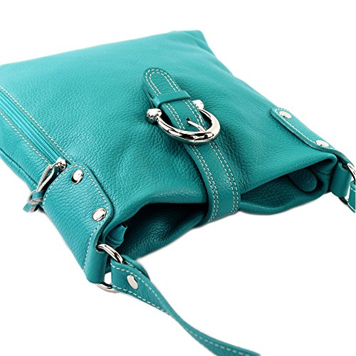 Made Italy , Sac bandoulière pour femme Turquoise