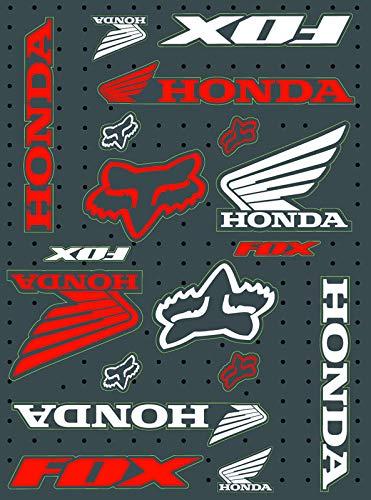 KIT STICKERS FOX ADESIVI SPONSOR MOTO HONDA YAMAHA KTM CROSS ENDURO CASCO (19)