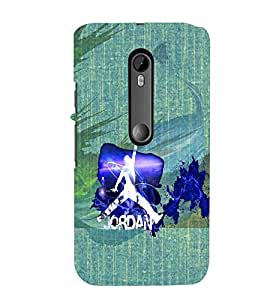 PrintVisa Sports Basketball 3D Hard Polycarbonate Designer Back Case Cover for Motorola Moto G3