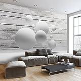 murando - Fototapete Holz 400x280 cm - Vlies Tapete - Moderne Wanddeko - Design Tapete - Wandtapete - Wand Dekoration - Kugel 3D f-A-0322-a-a