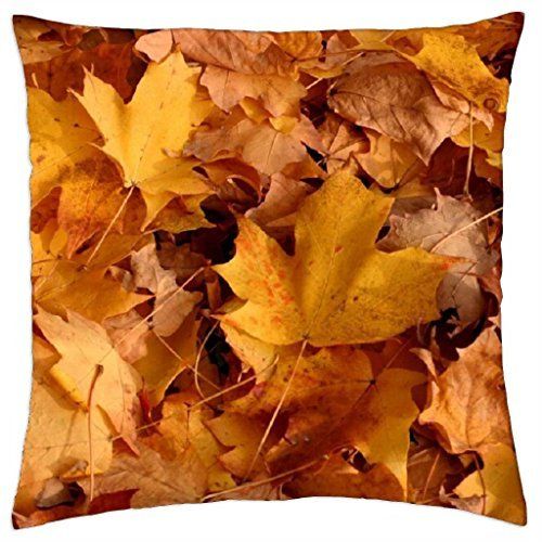 autumn leaves falling down - Throw Pillow Cover Case (18 - Autumn Falling Leaves