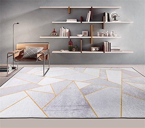 Q Nordischen Stil Geometrische Muster Metall Wind Hause Rechteckigen Teppich Wohnzimmer Couchtisch Schlafzimmer Bett Weiche rutschfeste Bereich Teppich (Größe: 140 * 200 cm)