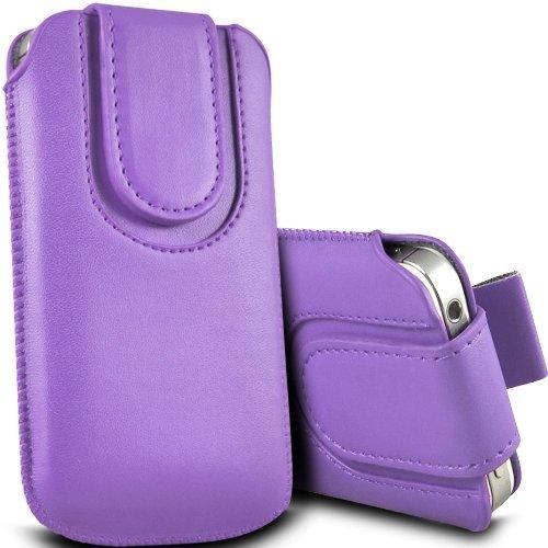 Preisvergleich Produktbild C63 ®-Apple Iphone 5 / 5S,  Premium PU-Leder Tasche Flip Case Cover Tasche-Light lila