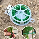 49FT Multi-function PVC Twist Tie Wire for Garden Climbing Plant with Stainless Steel Cutter -