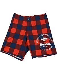 Bench Shorts La bosse, rouge bleu à carreaux - rouge, 32