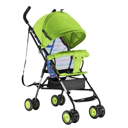 Poussette bébé Chariot de voyage pour enfants 1-3 ans pour enfants Trolley Summer Baby Pram GAOLILI (Couleur : Vert)
