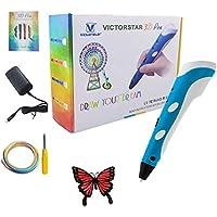 Victorstar @ 3D Penna Stampa - RP100A Portatile - Blu + Bianco per Il Disegno e Ehirigori 3D + Adattatore + ABS Filamento / Il Regalo Incredibile per i Bambini