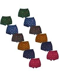 VINAB Kids Briefs Cotton Multi Colour Printed Briefs for Boys/Printed Briefs for Girls (Pack of 12)