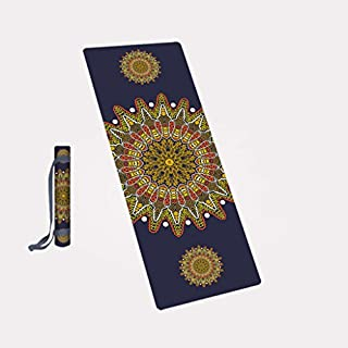 WYZ Fitness Yoga Mat, Profession Foldable 4MM Yoga Decke Anti-Rutsch Sport Mats Fitness Mats Shop Handtuch (Farbe : A, größe : 183 * 68 * 0.4CM)