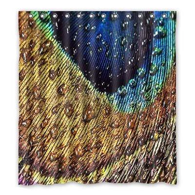 Dalliy Brauch pfau Wasserdicht Polyester Shower Curtain Duschvorhang 167cm x 183cm (Duschvorhang Zebra Grau)