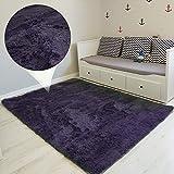 Amazinggirl Tapis Shaggy Design Moderne pour Chambre d'enfant, Chambre à Coucher, Salon - Longues Mèches Coureur Lavable intérieur extérieur Couleurs au Choix