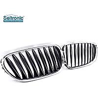Seitronic® parrilla de riñón Radiador/frontal parrilla en cromo/negro hecho de ABS de alta calidad–.
