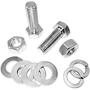 M14 x 50mm Set Screw BZP 8.8 HT Pack of 2. FREE UK STANDARD DELIVERY