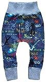 Wollhuhn ÖKO Lässige Babyhose Cool Stuff Jeansblau für Jungen und Mädchen (aus Öko-Stoffen, Bio), 20180825, Größe: 86