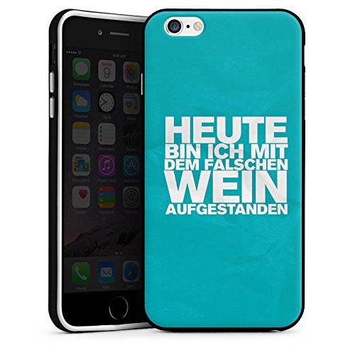 Apple iPhone X Silikon Hülle Case Schutzhülle Wein Sprüche Statement Silikon Case schwarz / weiß