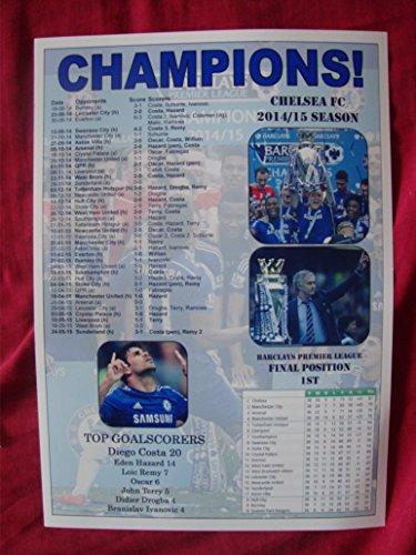 Chelsea PREMIER LEAGUE CHAMPIONS 2015–Souvenir Print (Oscar Souvenirs)
