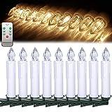 FROADP 30 Stück Warmweiß Dimmbare LED Mini Weihnachtskerzen mit Fernbedienung Kabellos Christbaumkerzen für Weihnachtsbaum deko Geburtstagsdeko