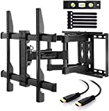 """Perlegear TV Bracket Wall Mount, Adds Space To Your Home! Fits 37""""-70"""" TVs, Securely Holds 45kg! TV Mount Reduces Glare, Tilts & Swivels! Mounts to Concrete, Brick & Wood Studs, Premium TV Wall Bracket!"""