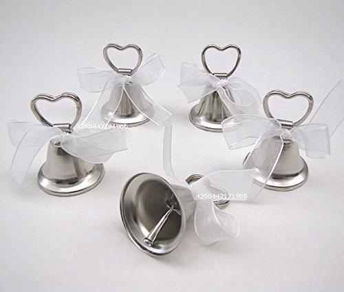 Hochzeit Glöckchen 5er-Set als Tischkartenhalter oder Bildhalter Hochzeitsdeko