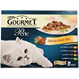 Purina Gourmet Perle Mixed Variety Delicate Meats Duo Adult Wet Cat Food, 12 x 85g